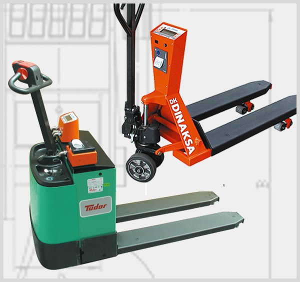 Pallet truck scales and weight pallet scales