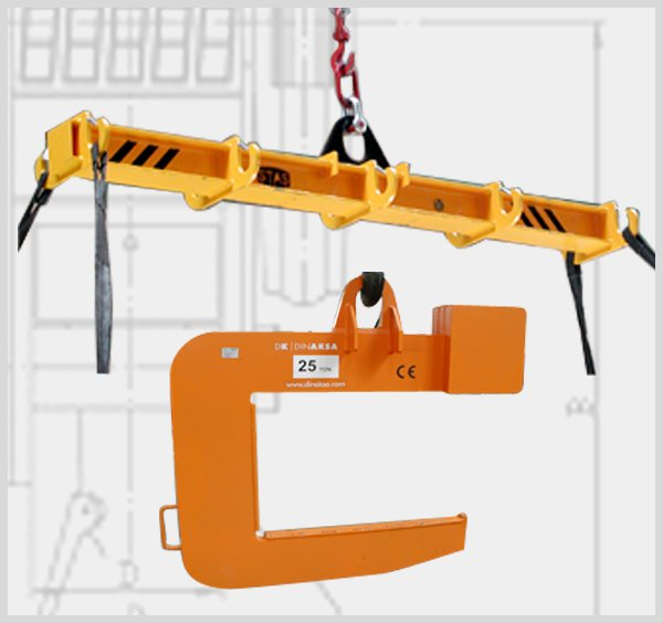 "Load beams, swivel and extensible ""C"" scales"