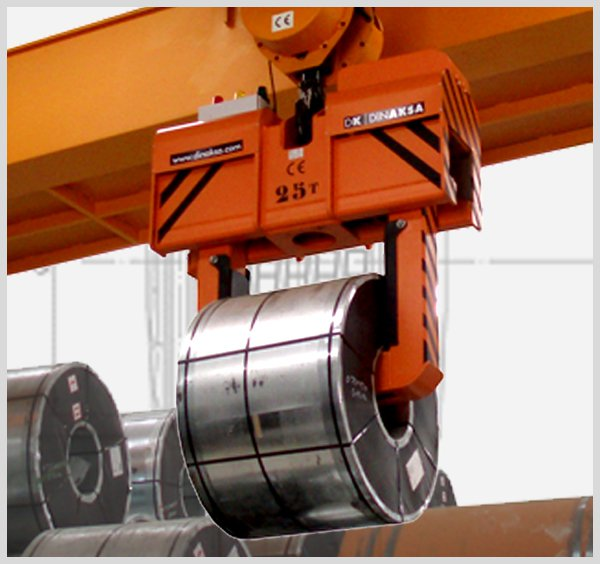 Coil lifting-clamp for laminated sheet-coils