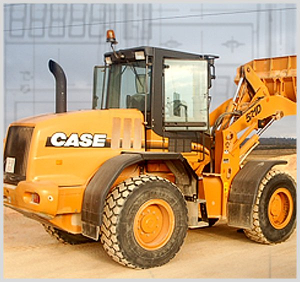 Wighing excavator, dumper and backhoe